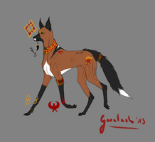 Egyptian Dog/Fox Design [OVER] by Goralesh