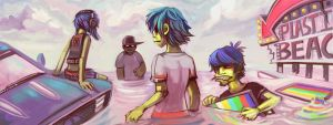 Plastic Beach by L-MakesArt