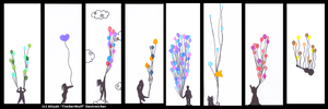 Balloon Bookmarks B1 by The--Working-Wulf