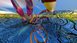 Abstract Tribal Sunset by AdamF-X29