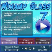 Winamp Glass 7 by d4rk13