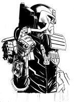 DREDD INKING2 by REDBAZ