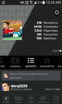 thank you so much..... 100 watchers by darq2225