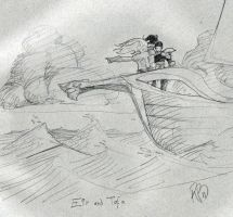Eir and Tofa trial sketch by innerpeace1979