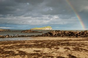 North Berwick Rainbow II by adischordantrhyme