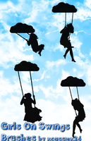 Girls On Swings Brushes by xCassiex24