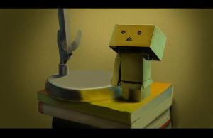 Danbo Lost His Arm And Looks Existential by Richirich