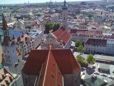 Top View of Munich 30 by Saphierra