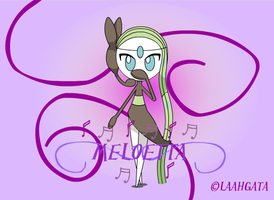Meloetta is so pretty x3 by LaahGata