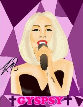 lady gaga drawing by ROOGERT