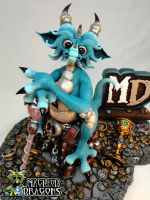 Teal Dragon 2015 (Close-up) by MacLeodDragons