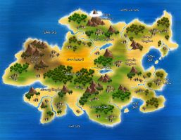 new island map by elvenjob