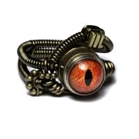 Reptile steampunk eye ring 3 by CatherinetteRings