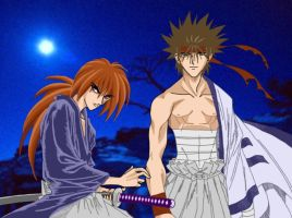 Twilight - Sano and Kenshin by Arigatoumina