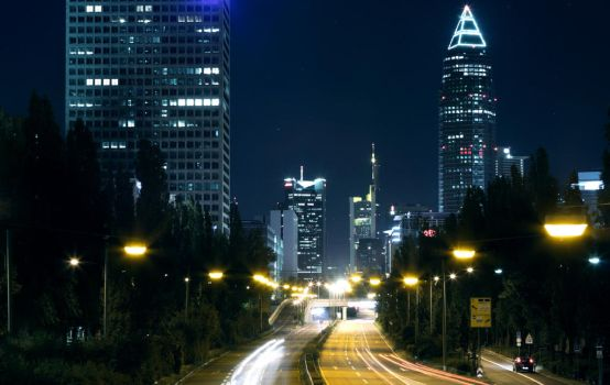 Driving Into Frankfurt by 3SheetsToTheWind