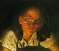 Girl with Glasses by hank1