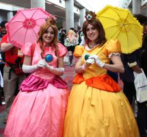 Peach and Daisy by MrCentauri