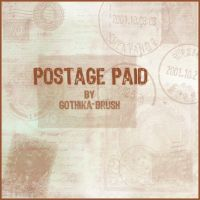 Postage Paid by gothika-brush
