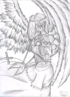 Angel and child by Miniatureowl