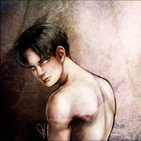 Shingeki no kyojin - Levi Painting by msloveless