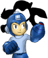 Megaman is Ready for Super Smash Brothers by manfartwish