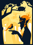 The Faun and the Sparrow by falsarius