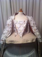 WIP on Ditchley gown - bodice by Firefly182