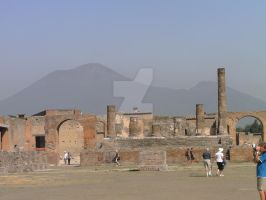 Pompei and Mount Versuvius by Madame-Mabsoot