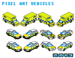 Pixel Art Vehicles - Emergency Services by Luckymarine577