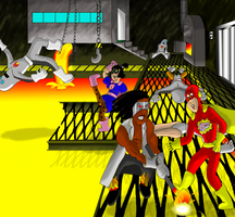Meatman and Candygirl vs. The Heavy Heaters by garageman45