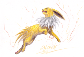 Jolteon 2 by CheezieSpaz