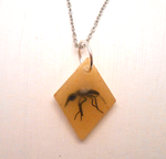 Handmade Jurassic park mosquito in amber by MiniSweetx