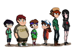 Gravity Falls Genderbend by WinterHeath