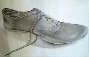 Shoe Drawing by haloanime97