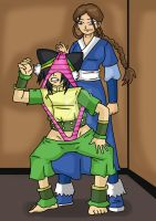 katara wedgied toph by archangemon
