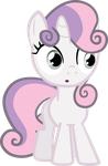 Sweetie Belle credit free vector by poniesfromheaven