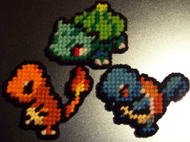 Battle Stance Kanto Starter Set by AprilMoonshine