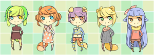ulzzang kenonomimi adoptables set 1 [CLOSED] by kiimcakes