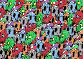 Monster collage by atwhc