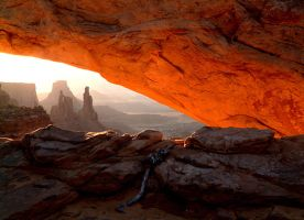 The Glow of Mesa Arch by Jackal7x