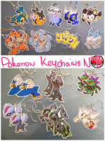 Pokemon Keychains 8 by Dragounette