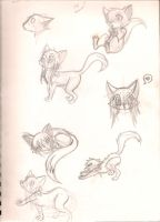 Fo practice Sketches by OreoMilu