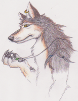 Tribal Wolf by nagowteena101