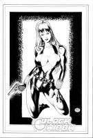 the Black Widow_Pinup by MichaelBair