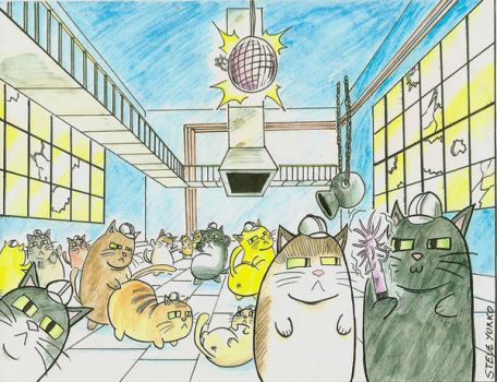 Gay Fat Cat Dance Party by TheSteveYurko