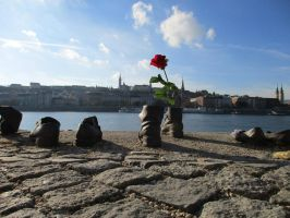 Shoes on the Danube (Holocaust memorial) by Syltorian