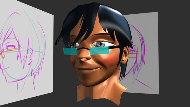 Dreyc head, smoothed version by AviKohl
