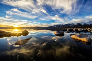 Mid February Tahoe Evening by sellsworth
