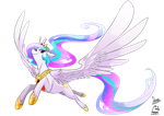 Princess Celestia by Dormin-Kanna