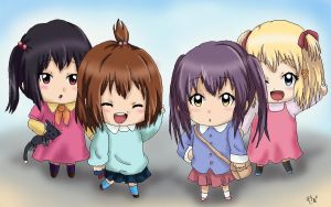 K-ON x YuruYuri by AdrenaVeris